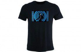 Tee-shirt equaliser: Blue dancer