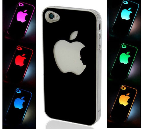 illuminated iphone casestee shirt lumineux r actifs. Black Bedroom Furniture Sets. Home Design Ideas