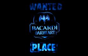 IMAGE LED WANTED BACARDI