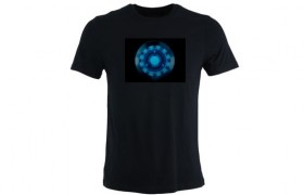 T-shirt LED COEUR IRON