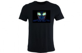 Tee-shirt LED: IRON MAN