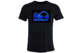 T-shirt illuminé: MUSIC