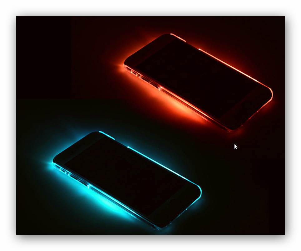 coque lumineuse iphone 6 coque smartphone illumin e. Black Bedroom Furniture Sets. Home Design Ideas