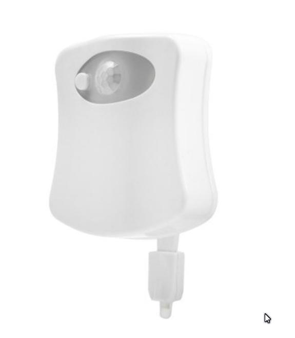 Toilettes lumineuses avec detecteur de mouvements for Aerateur salle de bain avec detecteur