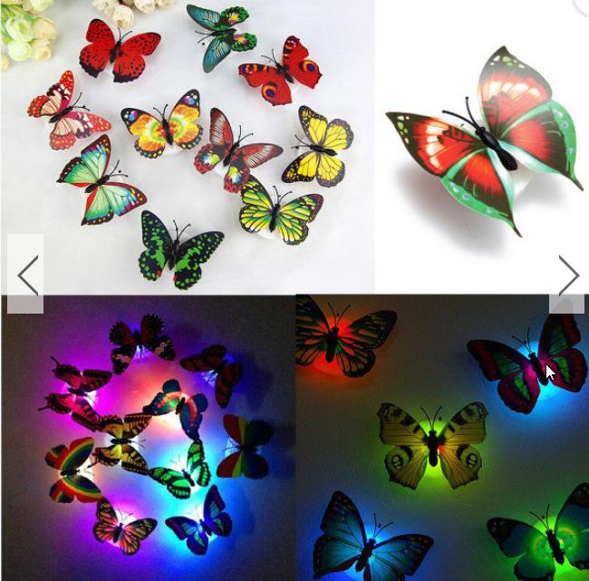 Papillon lumineux led papillon illumin papillon led - Lampe qui s allume en la touchant ...