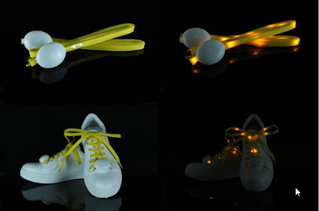 lacet led v ritables lacets lumineux lacets illumin s. Black Bedroom Furniture Sets. Home Design Ideas