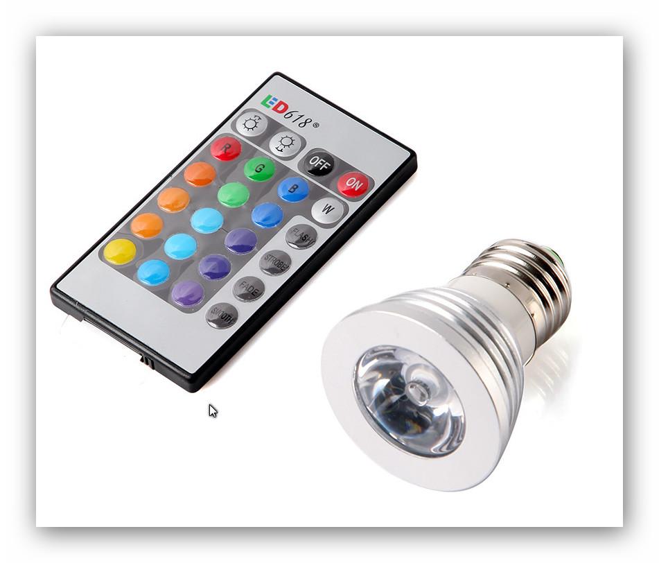 ampoule spot rgb avec t l commande ampoules multicolore ampoule rgb. Black Bedroom Furniture Sets. Home Design Ideas